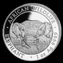 2020 1 oz Somalia Silver Elephant Coin (BU)