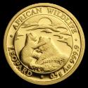 2019 1/2 g Somalia Gold African Wildlife Leopard BU