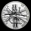 2011 1/2 oz British Silver Britannia Coin (BU) In Capsule