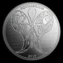 2019 1 oz Tokelau Silver $5 Equilibrium Butterfly BU