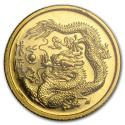 1988 1/20 oz Singapore $5 Gold Dragon BU