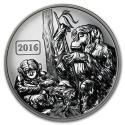 2016 Tokelau 1 oz Silver Year of the Monkey Family (Rev Proof)