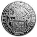 2019 1 oz Netherlands Silver Lion Dollar Restrike (BU)