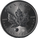 2015 1 oz Canada Silver Maple Leaf Heart Privy Coin (BU)