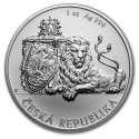 2019 1 oz Niue Silver Czech Lion BU with Light Scratches