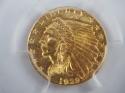 1929 US Gold $2.50 Indian Head Quarter Eagle MS62 PCGS