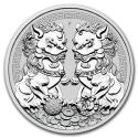 2020 1 oz Australia Silver Double Pixiu BU