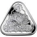 2020 1 oz Australia Silver $1 Vergulde Draeck Shipwreck (Gilt Dragon)