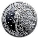 2020 1 oz Barbados Silver Caribbean Seahorse BU