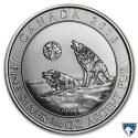 2016 3/4 oz Canada Silver Howling Wolves Coin (BU)