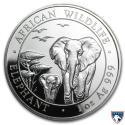 2015 1 oz Somalia Silver Elephant Coin (BU)