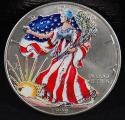 1999 1 oz American Silver Eagle Colorized Coin