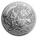 2018 1 oz British Silver Year of the Dog Coin (BU)