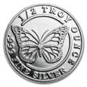 1/2 oz Butterfly Silver Round