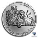 2018 1 oz Niue Silver Czech Lion (BU)