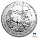 2013 1 oz Canada Silver Pronghorn Antelope Coin (BU) with Light Spotting