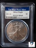 2012-W American Silver Eagle Struck at West Point Mint MS 69 PCGS