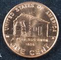 2009 D Lincoln Log Cabin ANACS MS 65+ RD Cent (BU) Penny