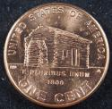 2009 P Lincoln Log Cabin ANACS MS 65+ RD Cent (BU) Penny