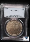 1886 Morgan Dollar MS 63 PCGS